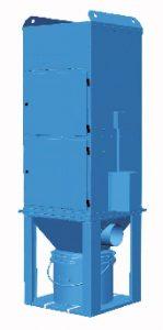 Unimaster UMA Vakio pölynpoistolaitteessa on puhallinmoduuli, suodatinmoduuli ja pikasalvalla varustettu pölyastia